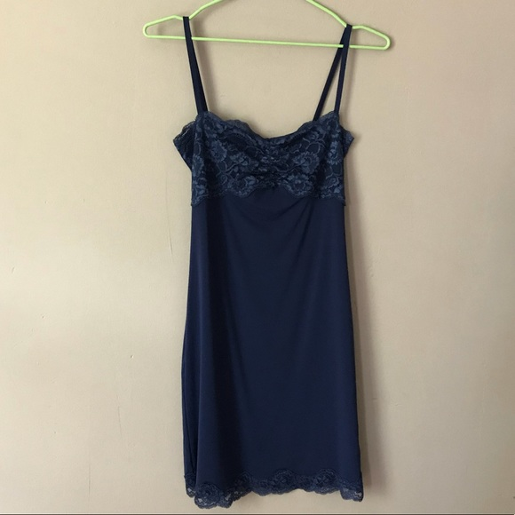 35dc9e3fef5b Intimissimi Intimates & Sleepwear | Dark Blue Lace Slip Sleep Dress ...